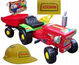 Трактор с прицепом + набор блоков