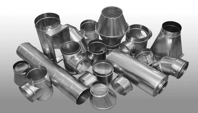 Фасонные изделия для монтажа вентиляции