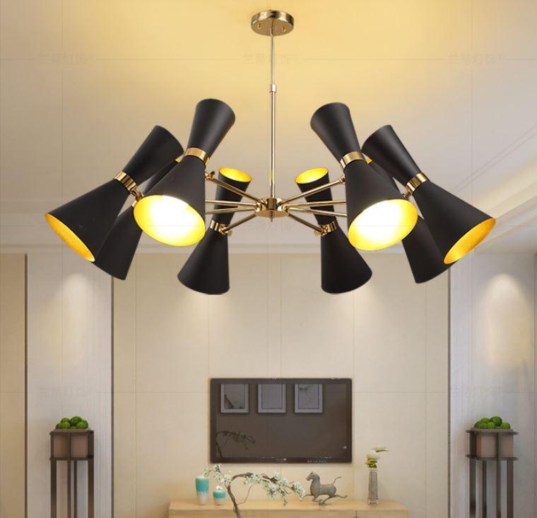 Люстра Loft Concept   CAIRO Chandelier. Цвет - черный, белый