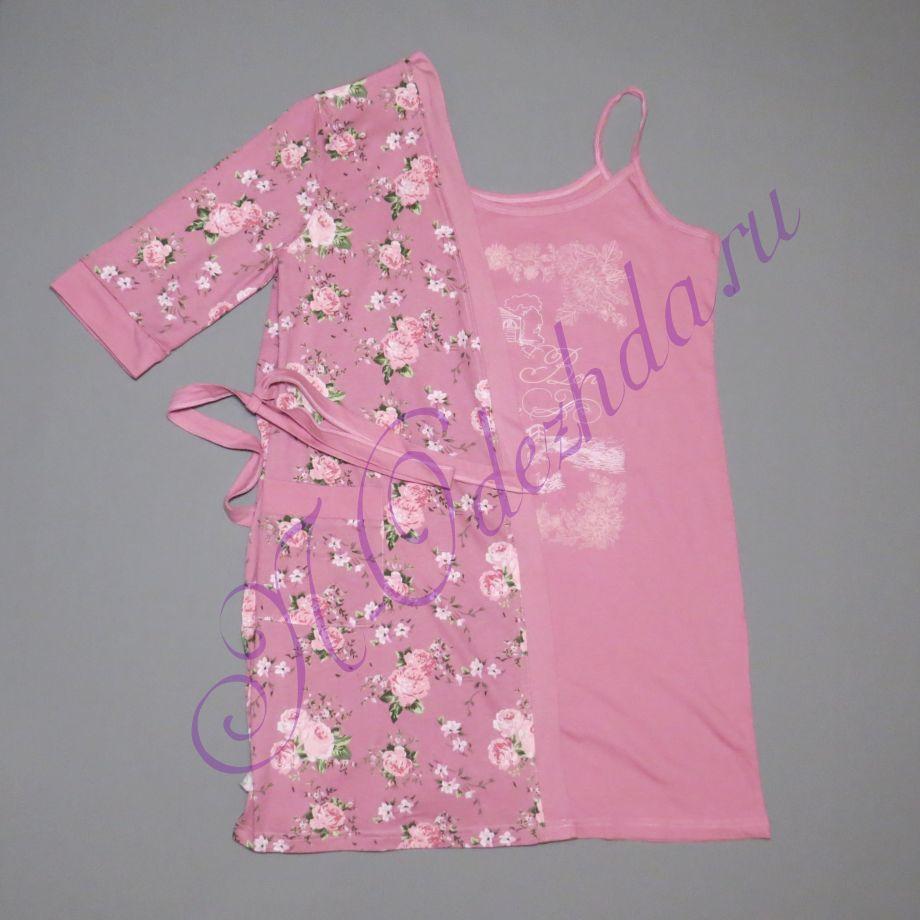Комплект - халат с сорочкой