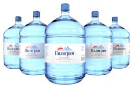 Вода Пилигрим 5 бутылей по 19 литров, пэт.