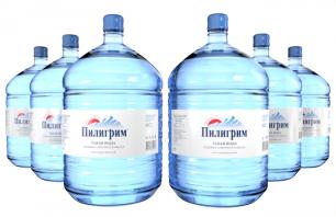 Вода Пилигрим 6 бутылей по 19 литров, пэт.