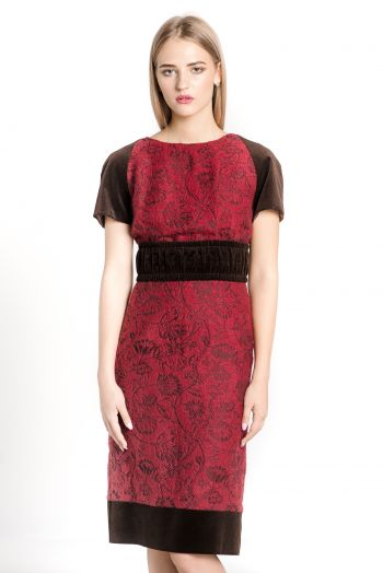 Платье футляр из шерсти ROMAN RUSH