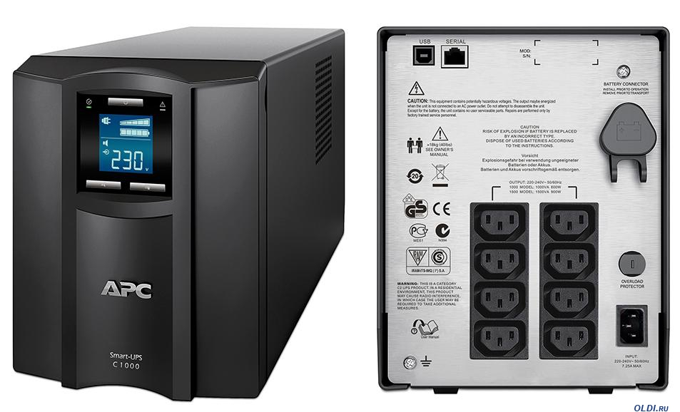 Интерактивный ИБП APC by Schneider Electric Smart-UPS SMC1000I