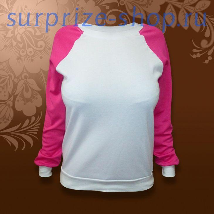 Свитшот для девочки розовая/ белая