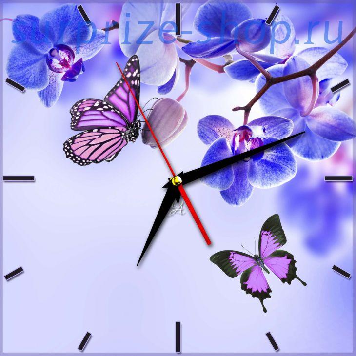 Часы настенные металлические Прямоугольник 190*270мм
