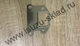 Прокладка клапана EGR металлическая на четыре болта (4HK1) NQR75 / NQR90 / NPR75 / Богдан евро 3