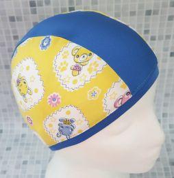Зайчики желтые Текстильная шапочка для плавания