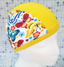 Бабочки Текстильная шапочка для плавания