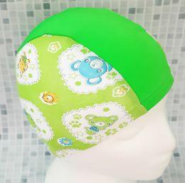 Зайчата зеленые Текстильная шапочка для плавания