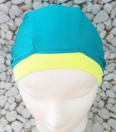 Голубая Текстильная шапочка для плавания