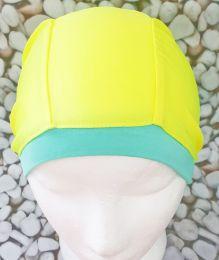 Желтая Текстильная шапочка для плавания