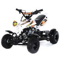 MOTAX H4 Mini 49 сс Квадроцикл бензиновый Бело-оранжевый
