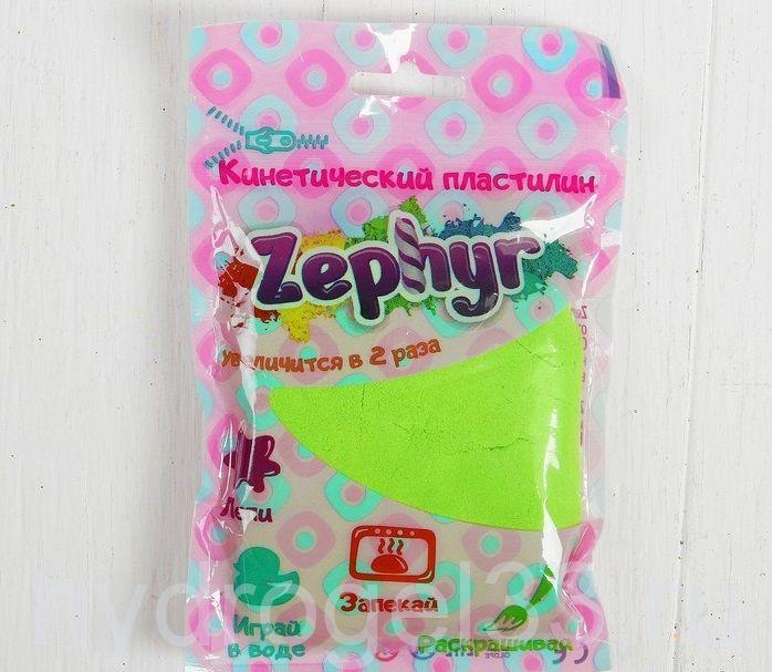 Кинетический пластилин Zephyr салатовый, 75 гр
