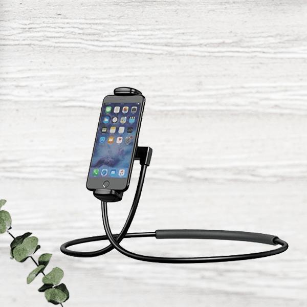 Изменяемый держатель смартфона на шею с поворотом на 360 градусов.
