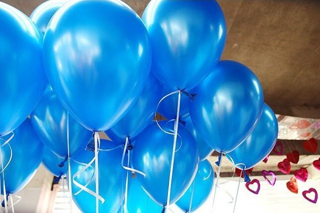 Набор шаров металлик (цвет - blue)