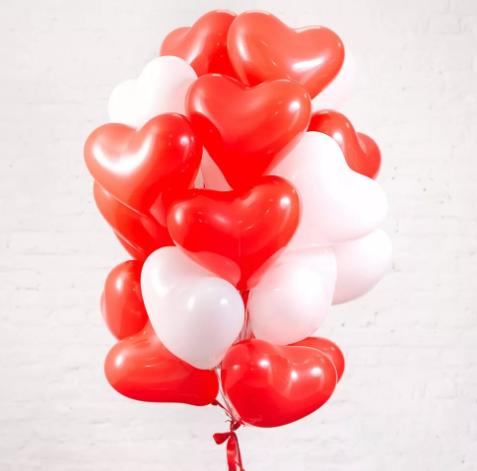 """Набор шаров """"Сердце"""" (красные и белые)"""