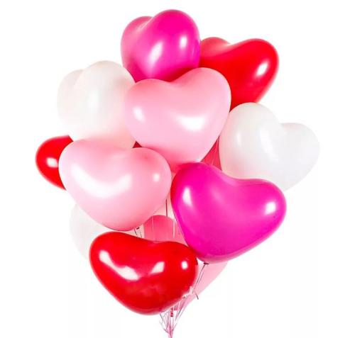 """Набор шаров """"Сердце"""" (красные, белые, розовые)"""