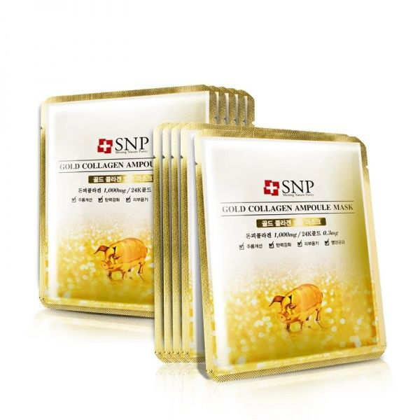 Тканевая маска SNP Gold Collagen Ampoule