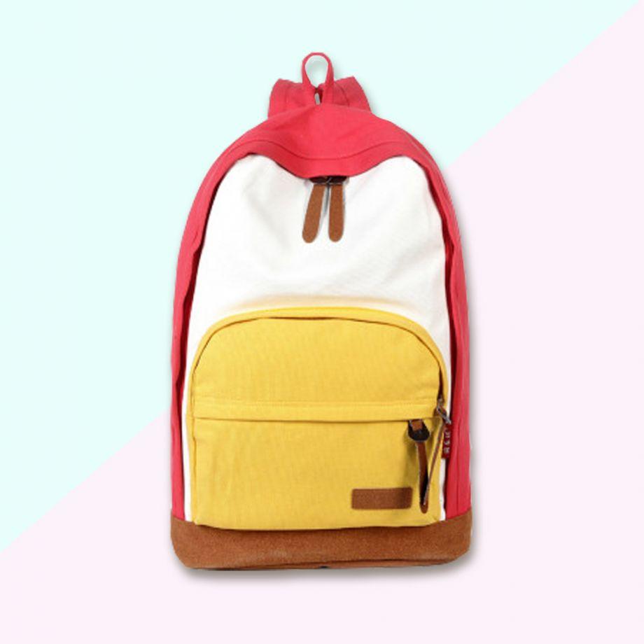 Рюкзак Tribal красный/желтый карман
