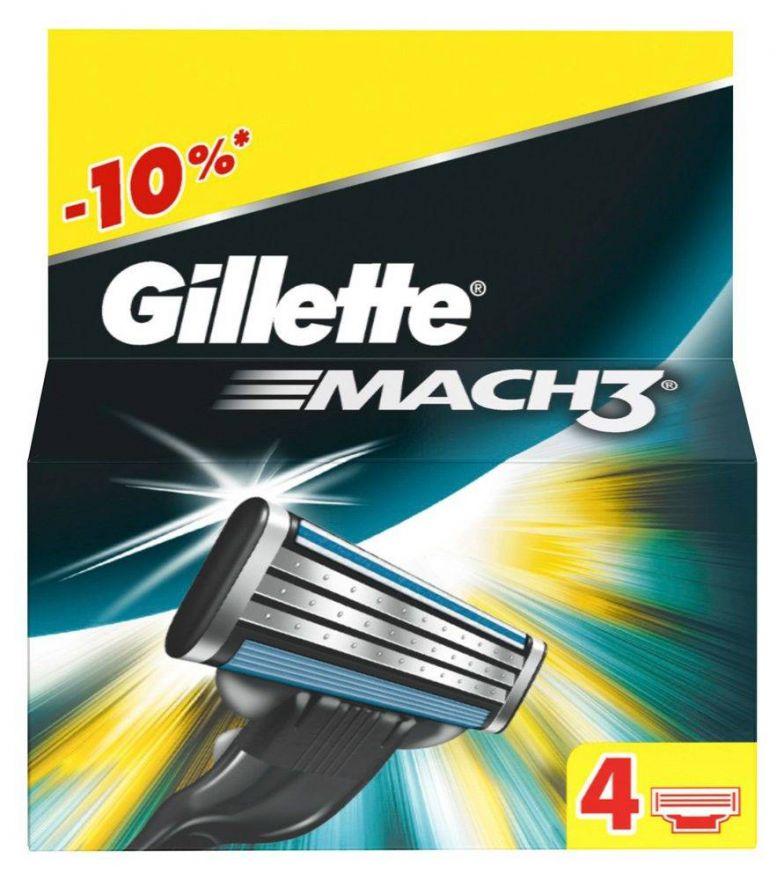 01* 4 шт. Gillette Mach3 сменные кассеты (4 шт)