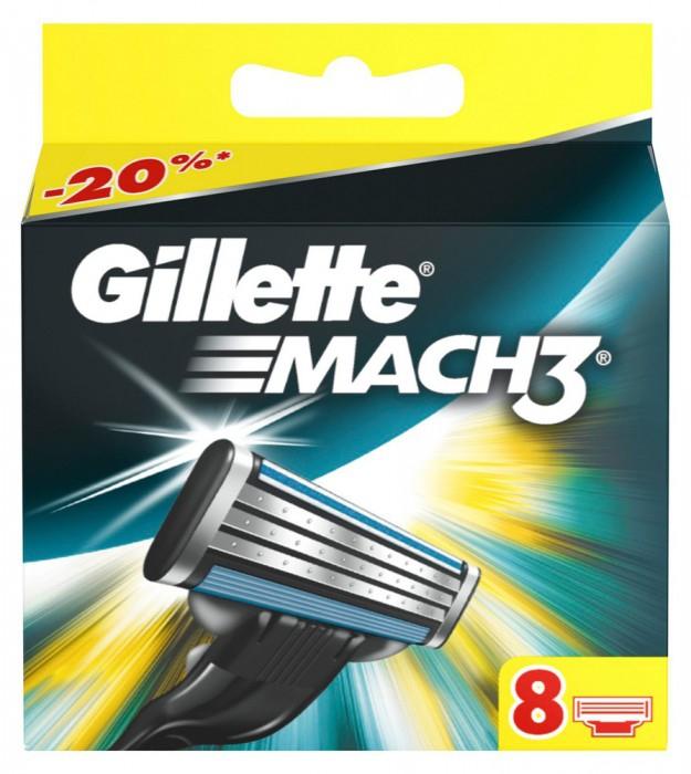 б: Gillette Mach3 сменные кассеты (8 шт)