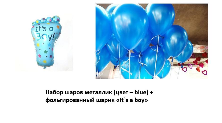 Набор шаров на выписку мальчика №3