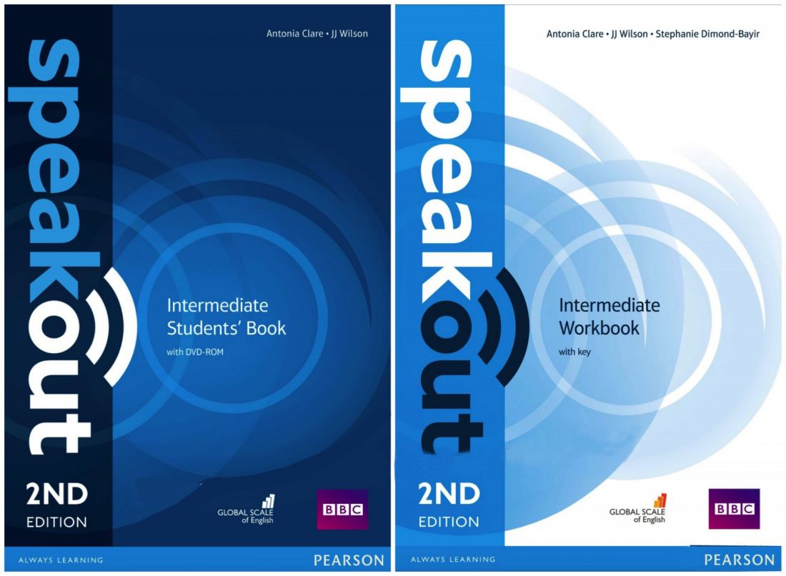 SpeakOut Intermediate 2nd (Student's Book with DVD-ROM + Workbook with key)