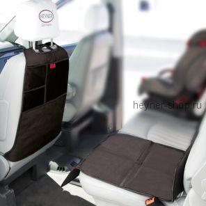 Комплект защитный коврик на сиденье HEYNER Seat Protector + Органайзер на спинку сиденья HEYNER Kick Mat Organizer