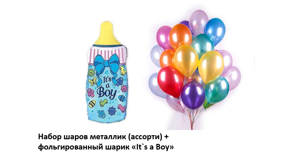 Набор шаров на выписку мальчика №2