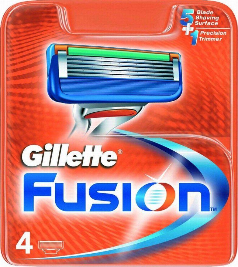 111* 4 шт. Gillette Fusion сменные кассеты (4 шт)