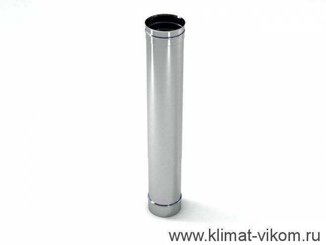 Труба ф 130,  1,0м, AISI 439/1,0мм