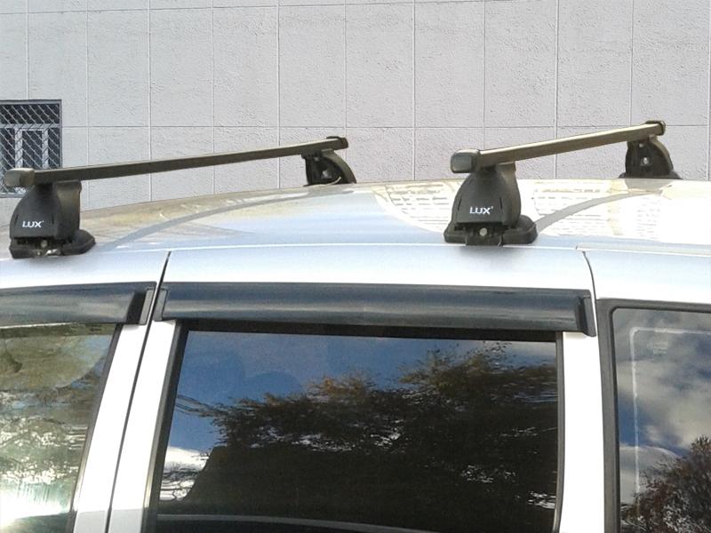 Багажник на крышу Chevrolet Niva, Lux, прямоугольные стальные дуги