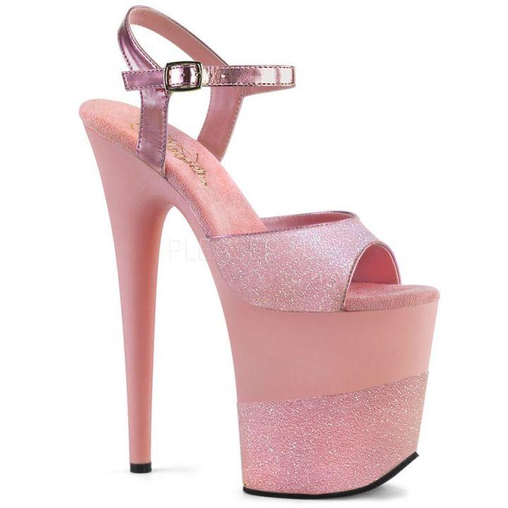 Стрипы Pleaser розовые FLAM809-2G/BPG/M