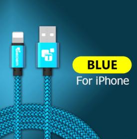 Кабель для IPhone (Lightning) 2м синий