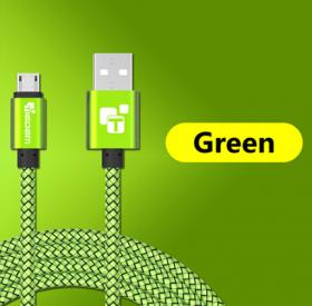 USB - кабель (USB - microUSB) 25 см зеленый