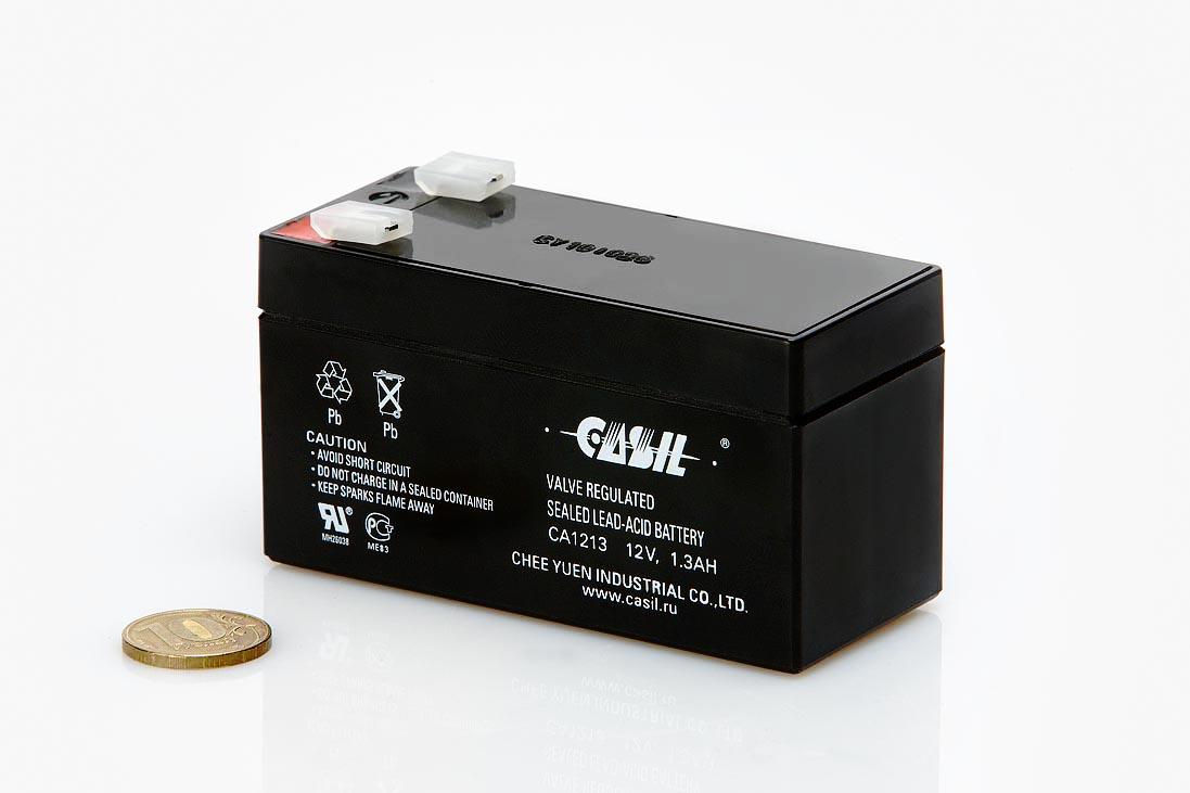 Аккумулятор 12 вольт 1,3 ампер*час  (Продается только с блоком управления Premium)