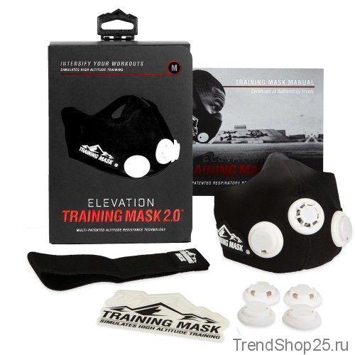 Тренировочная маска elevation training mask 2.0 (обновлённая)
