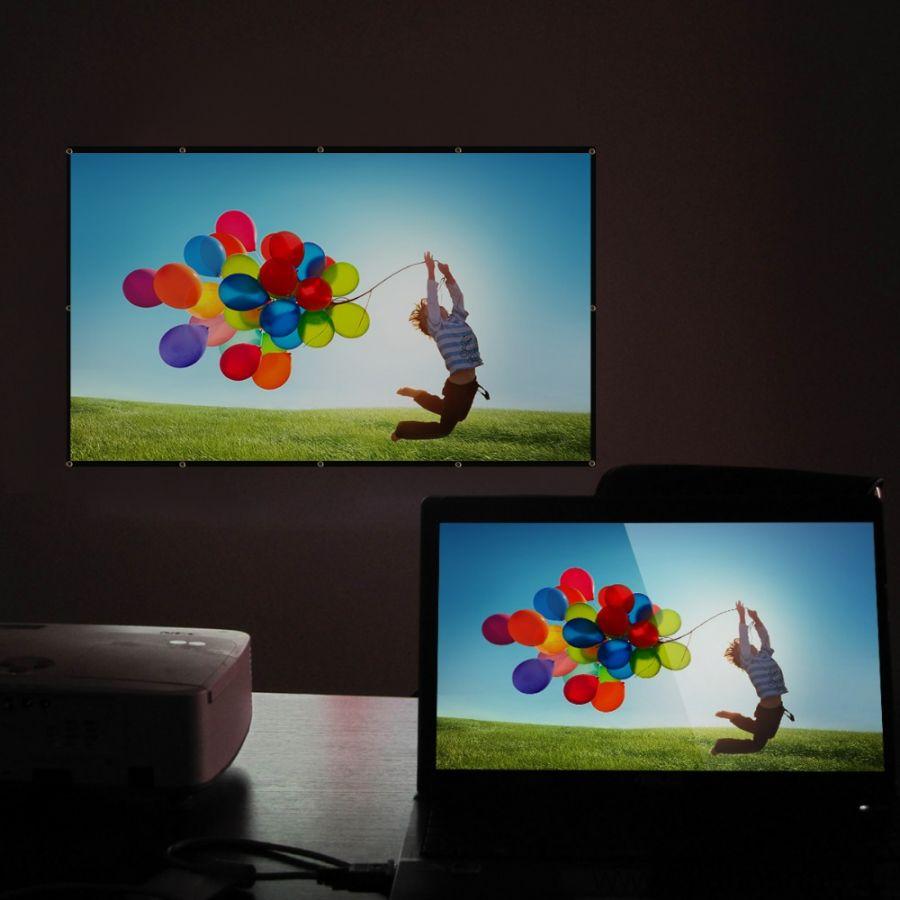 Экран Excelvan для проектора 100 дюймов 16:9