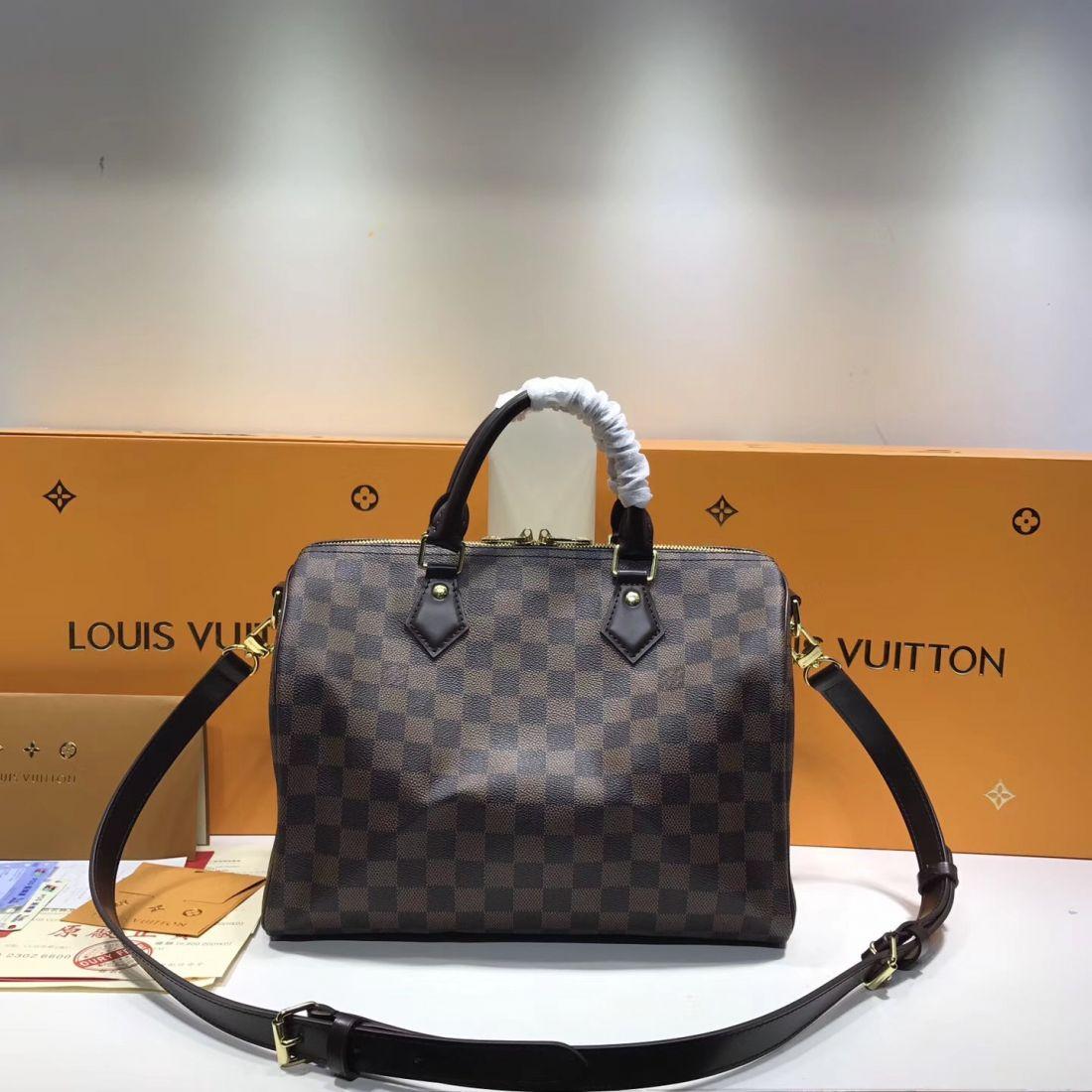 Сумка Louis Vuitton Speedy 30 Damier Ebene