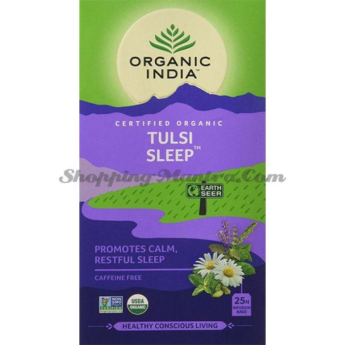 Чай Тулси Слип для улучшения сна Органик Индия / Organic India Tulsi Sleep Tea Bags