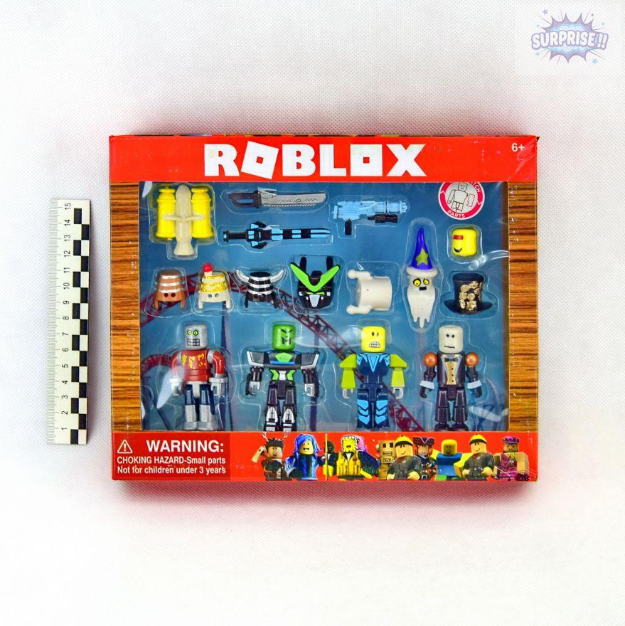 Roblox набор 4 фигурки героев с аксессуарами 7,5см (№JL18341)