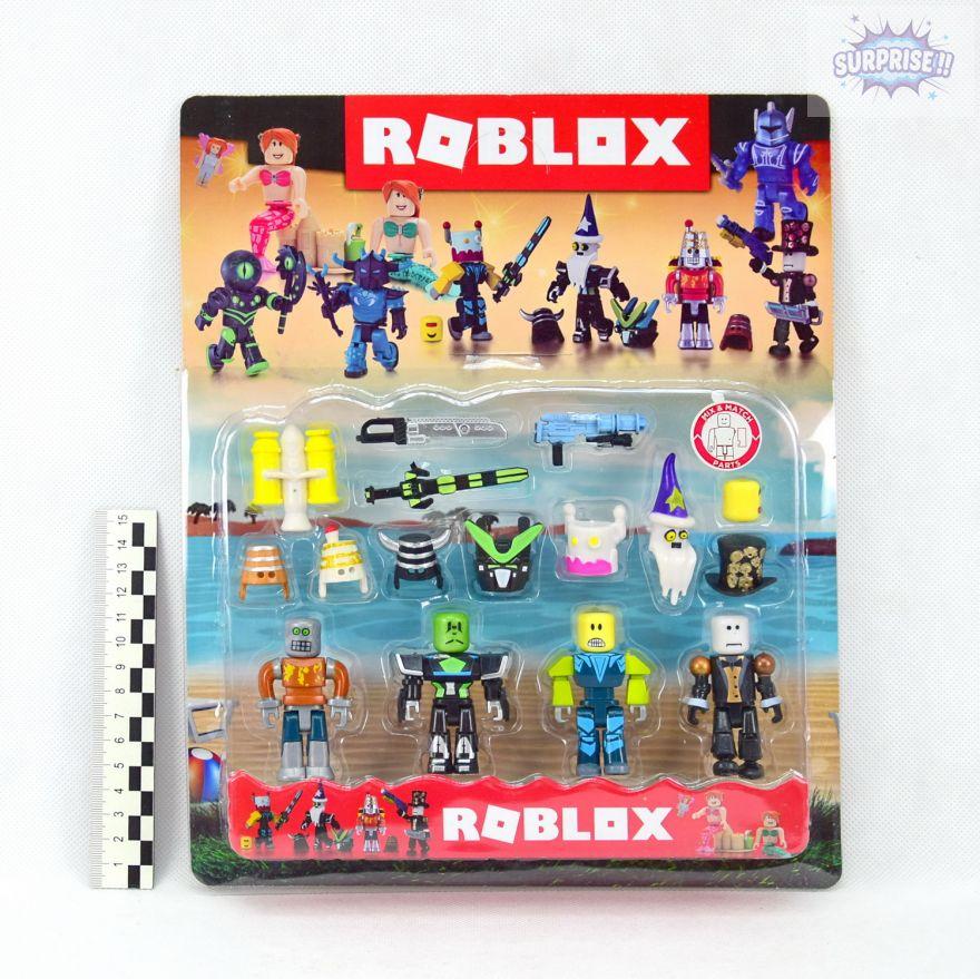 Roblox набор 4 фигурки героев с аксессуарами 7,5см (№R03215)