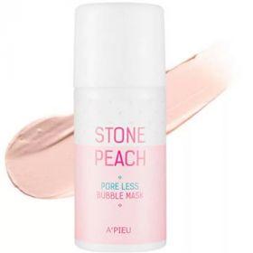 A'PIEU Stone Peach Pore Less Bubble Mask 60g - Пузырьковая маска с персиком для очищения и сужения пор