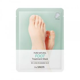 THe SAEM PURE NATURAL Foot Treatment Mask 8g *2 - Маска-носочки для ног