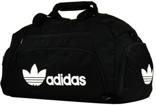 Спортивная сумка-рюкзак с отделом для обуви цвет черный