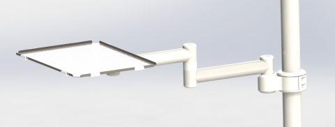 Столик DS-Tab-2-40-250-65-Нерж.сталь (Intego) для стоматологической установки SIRONA INTEGO