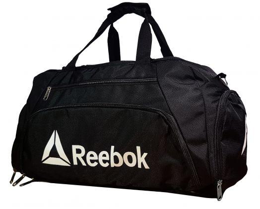 Спортивная сумка-рюкзак Reebok с отделом для обуви цвет черный