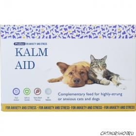 Kalm Aid 30 таблеток -  успокаивающие таблетки для кошек и собак со вкусом говядины