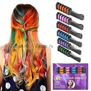 РАСЧЕСКИ для окрашивания волос(мелки) Набор 6шт. В ассортименте